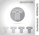 architecture outline icon set ... | Shutterstock .eps vector #409836670