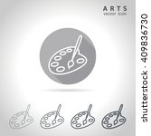 arts outline icon set ... | Shutterstock .eps vector #409836730