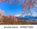 snow in the mountains and... | Shutterstock . vector #409837084