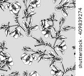 Seamless Pattern With Blossom...