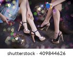female apparel in disco... | Shutterstock . vector #409844626
