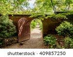 a hidden gate is opening up to... | Shutterstock . vector #409857250