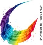 abstract motion background ... | Shutterstock .eps vector #409857604