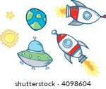 space set vector illustration | Shutterstock .eps vector #4098604