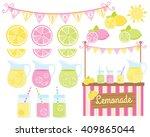 lemonade stand | Shutterstock .eps vector #409865044