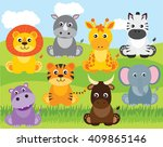 safari animals | Shutterstock .eps vector #409865146