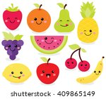 cute fruit | Shutterstock .eps vector #409865149