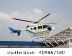 Small photo of Khonkean province, Thailand- April,2016 : Helicopter for training emergency aeromedical evacuation