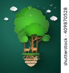 concept of eco friendly and... | Shutterstock .eps vector #409870528