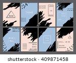 trendy minimal cards design...   Shutterstock .eps vector #409871458