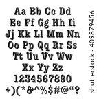 3d black alphabets with digit... | Shutterstock . vector #409879456