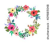 vector flowers set. beautiful... | Shutterstock .eps vector #409885048