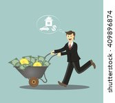 young successful businessman.... | Shutterstock .eps vector #409896874