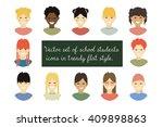 vector set of school students... | Shutterstock .eps vector #409898863