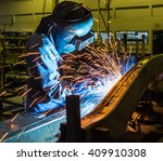 welder industrial automotive... | Shutterstock . vector #409910308