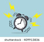 wake up time  ringing alarm... | Shutterstock .eps vector #409913836