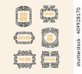 classic art deco luxury minimal ... | Shutterstock .eps vector #409928170