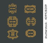 classic art deco luxury minimal ... | Shutterstock .eps vector #409928209