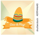 isolated traditional hat and a... | Shutterstock .eps vector #409944640