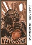 zombies eat heart   Shutterstock .eps vector #409945444