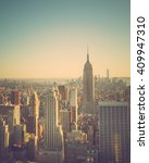 vintage tone cityscape of new... | Shutterstock . vector #409947310