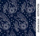 ornamental paisley pattern ... | Shutterstock .eps vector #409947436
