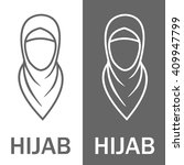 muslim traditional hijab  islam ... | Shutterstock .eps vector #409947799