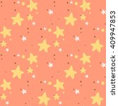 seamless birthday pattern with... | Shutterstock .eps vector #409947853