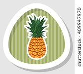 pinapple colorful icon | Shutterstock .eps vector #409947970
