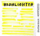 vector highlighter brush lines. ...   Shutterstock .eps vector #409950553
