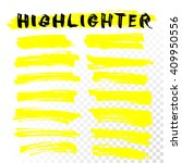 yellow highlighter marker... | Shutterstock .eps vector #409950556