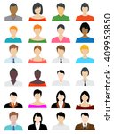 set of avatar color icons  ... | Shutterstock .eps vector #409953850