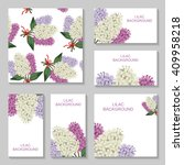 illustrations of lilac flowers... | Shutterstock . vector #409958218