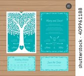 wedding invitation or greeting... | Shutterstock .eps vector #409961188