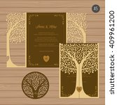 wedding invitation or greeting... | Shutterstock .eps vector #409961200
