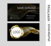 abstract business card design... | Shutterstock .eps vector #409979566