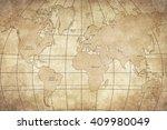 vintage map | Shutterstock . vector #409980049