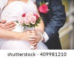 an image of wedding bouquet ... | Shutterstock . vector #409981210
