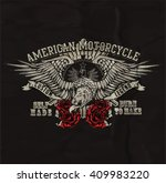vintage custom motorbike graphic | Shutterstock .eps vector #409983220