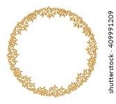 round golden frame made of...   Shutterstock .eps vector #409991209