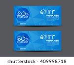 blue discount voucher template  ... | Shutterstock .eps vector #409998718