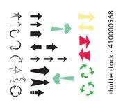 set of arrow designs . each... | Shutterstock .eps vector #410000968