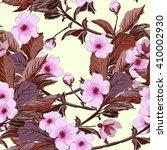 vintage wallpaper seamless... | Shutterstock .eps vector #410002930