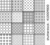 set of 16 seamless linear...   Shutterstock .eps vector #410009800