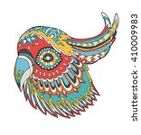 stylized colorful parrot...   Shutterstock .eps vector #410009983