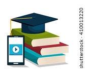 distance education design    Shutterstock .eps vector #410013220