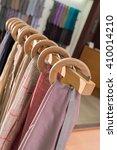 scarfs on hangers | Shutterstock . vector #410014210