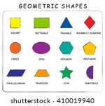 vector. a set of geometric... | Shutterstock .eps vector #410019940