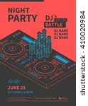 dance night party design poster.... | Shutterstock .eps vector #410020984