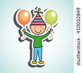 happy children on  party design  | Shutterstock .eps vector #410032849